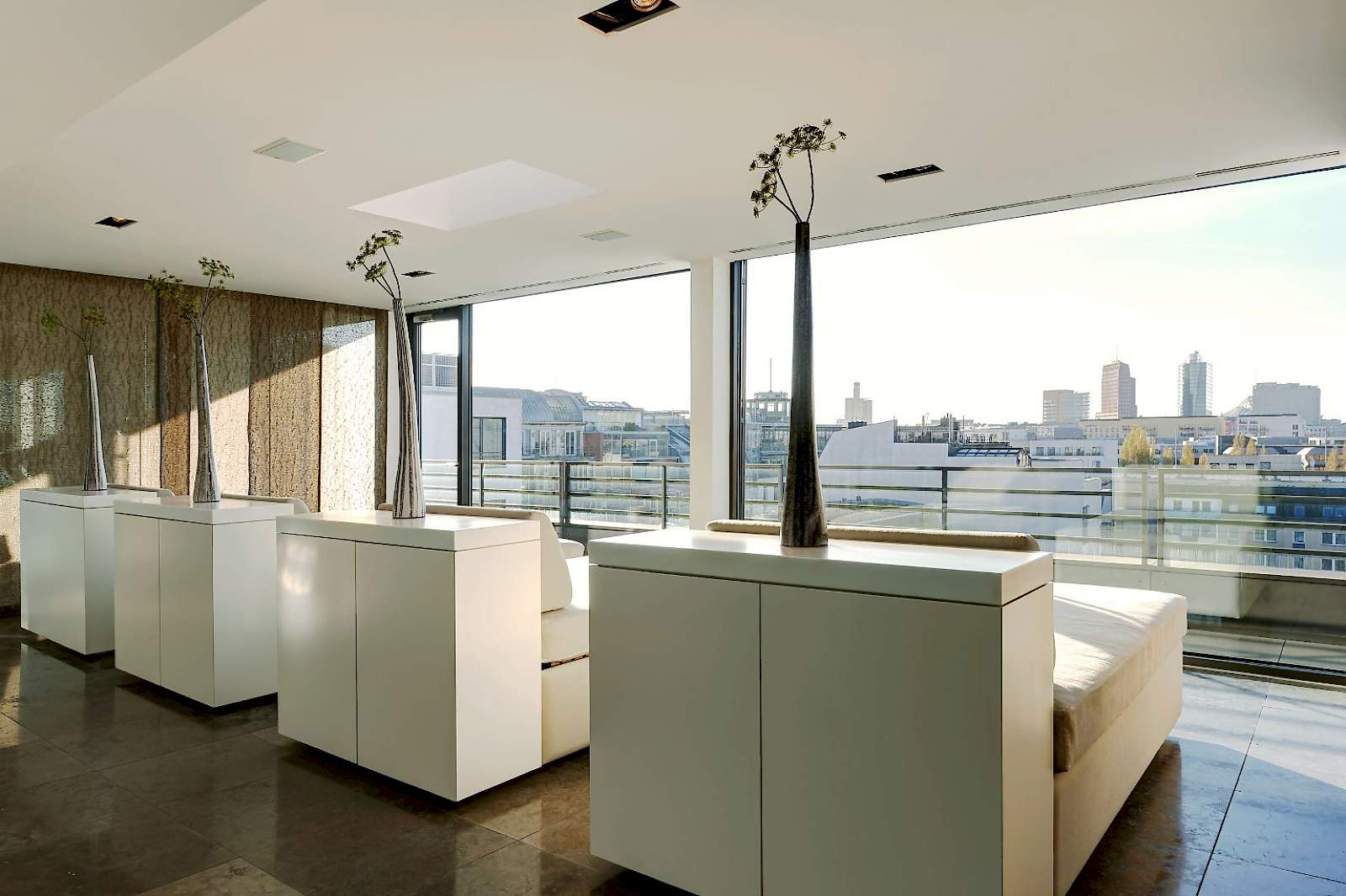 Relax on the 8th floor with breathtaking views over Berlin at The Mandala Suites